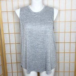 Ava & Viv Gray Space Dye Tank Top
